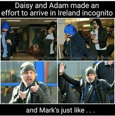 Daisy: *hiding* *hiding* *secret*  Adam: *chill* *secret* *secret* Mark: YO WHADDUP IMA JEDI