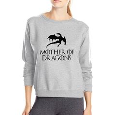 9a3e23f27f7 Hot Sale women sweatshirt Game of Thrones Mother Of Dragons 2016 autumn  winter style fleece casual hipster o neck hoodies-in Hoodies & Sweatshirts  from ...