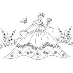 Pattern Detail | Belle in Garden with Butterfly | Needlecrafter