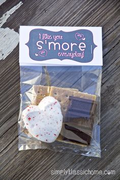 S'mores Valentine Treat & Free Printable