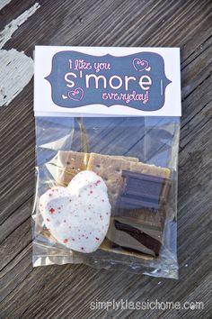 Simply Klassic Home: S'mores Valentine Treat & Free Printable