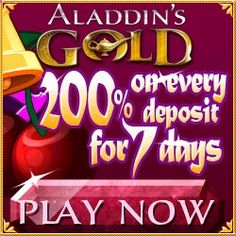 Win Cash Today Playing In The Aladdin's Gold Treasure Thursday Unlimited Slots Bonuses. Aladdin's Gold US Casino Review  Unlimited Slots Bonuses Codes.