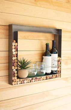 Wine Cork Holder, Wine Cork Art, Wine Cork Crafts, Wine Bottle Crafts, Wine Cork Frame, Wine Bottle Holder Wall, Wine Holders, Wine Bottle Corks, Recycle Wine Bottles