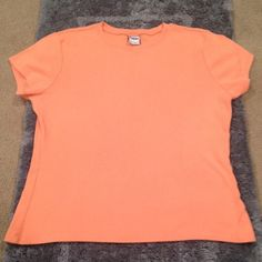 Orange Short Sleeve Top  HP - Summer Style Party 06/04/15  Used | Good Condition | Short Sleeve | Orange Color | Color Best Shown in 3rd Pic | Still a Little Darker in Person | 100% Cotton | Trades | Feel Free to Ask Questions | More  Upon Request | Bundles & Offers are Welcomed ❤️| Old Navy Tops Tees - Short Sleeve