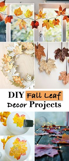 DIY Fall Leaf Decor Projects • If you love fall like we do, try these DIY fall leaf projects from amazing bloggers who love autumn too!