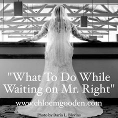 """Waiting on the mate God has for you can be pretty hard. You are unsure what to do and can even find yourself getting frustrated. You are unsure if it's God's will for you to marry and if it is, how do you prepare for it? What exactly do you do in the wait? I can totally understand because I had the same questions before I married. Click here and watch """"What to Do While Waiting on Mr. Right - 6 Tips"""" to find out what I did in my wait : www.chloemgooden.com or here: http://eepurl.com/cXjBhj"""