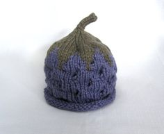 Boston Beanies Organic Cotton Blackberry Hat, Knit Fruit Baby Hat great photo prop