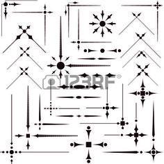 Some vector decorative design elements & corners for registration Reklamní fotografie