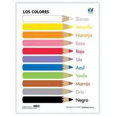 Spanish colors on pinterest spanish spanish worksheets and color by