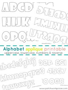 Alphabet Applique Templates Printable | patchwork posse #applique #printable