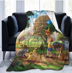 Winnie The Pooh Blanket Oversized Warm Adult Super Soft Blanket with Soft Anti-Pilling Flannel for Adults & Kids Print in Organic Baby Clothes, Unisex Baby Clothes, Winnie The Pooh Blanket, Newborn Tieback, Boho Baby, Newborn Gifts, Diy Toys, Anti Wrinkle, Baby Shower Gifts