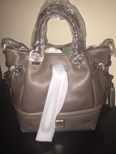 a3d4bab430e1 Dooney   Bourke Florentine Leather Buckley Bag w  BROWN Tomo Trim Elephant  Color