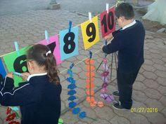 RALLY MATEMÁTICO (23) Maths Eyfs, Preschool Learning, Math Classroom, Kindergarten Activities, Classroom Activities, Preschool Activities, English Activities, Letter Activities, Math Challenge