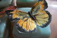 Petite Fours with Edible Butterfly #celebstylewed #bridal #nuptials #matrimony