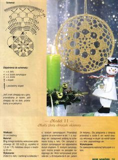 Christmas ornament with chart, Picasa Web Albums Crochet Snowflake Pattern, Crochet Motifs, Crochet Snowflakes, Crochet Squares, Crochet Patterns, Crochet Tree, Crochet Dollies, Diy Crochet And Knitting, Crochet Mandala