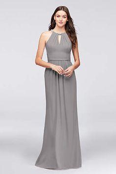 View Formal Halter High Neck Bridesmaid Dress at David's Bridal