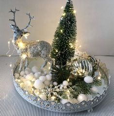 Christmas decoration - mirror tray Advent Christmas illuminated - a designer piece . Cheap Christmas Crafts, Rose Gold Christmas Decorations, Christmas Centerpieces, Diy Christmas Gifts, Simple Christmas, Christmas Time, Christmas Ornaments, Holiday Decor, Deco Table Noel