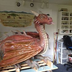Dragon Sculpture by WallsoftheWild on Etsy