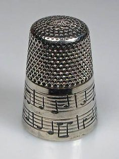 Thimble Sterling Silver Happy Birthday Thorvald Greif.