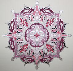 Persian Illuminations (Tazhib) artwork by Mojgan Lisar: Shamseh