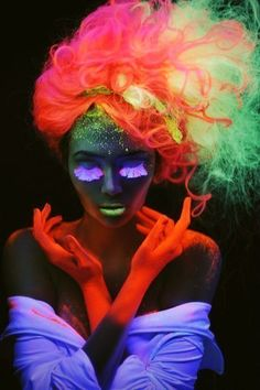 Light  Brilliance- extreme lighting and pop of vivid color   How the neon light make the images seem brilliant
