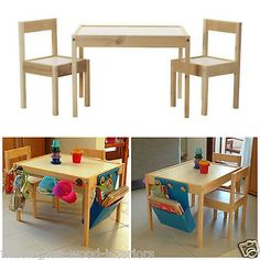 IKEA LATT WOODEN CHILDRENS TABLE & CHAIRS - CUSTOMIZE & PERSONALIZE YOUR OWN!! | eBay
