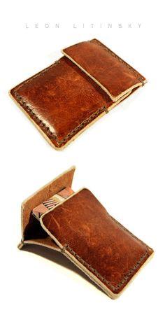 genuine leather name place holder,mixed color card wallet-hiram beron Leather Front Pocket Wallet, Leather Wallet Pattern, Handmade Leather Wallet, Leather Pouch, Leather Tooling, Leather Wallets, Leather Art, Leather Design, Diy Bags Holder