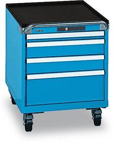 Schubladenschrank HxBxT 723x564x725mm, 4 Schubladen, Tragl. 75k http://www.udobaer.at/Schubladenschraenke/