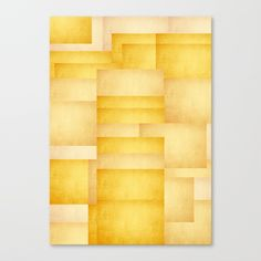 Abstract Yellow Rectangles Canvas Print