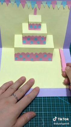 Diy Crafts For Girls, Diy Crafts Hacks, Diy Arts And Crafts, Diy Crafts Videos, Cool Paper Crafts, Paper Crafts Origami, Creative Crafts, Instruções Origami, Diy Gifts