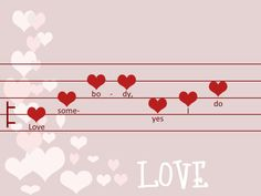 Love Somebody - song, rhythm Valentine Love Letters