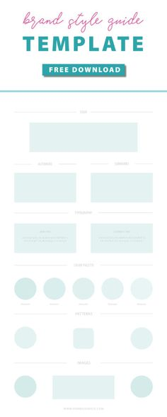 Your Brand Style Guide template awaits! Editable in Adobe Illustrator or… (Step Logo Illustrator Tutorials)
