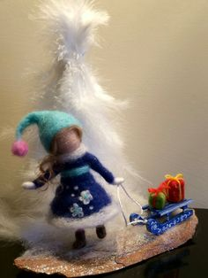 Needle felted dool Waldorf inspired Soft sculpture by DreamsLab3