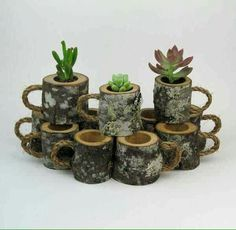 House Warming Gift Planter Hanging Planter Indoor Rustic Hanging Succulent Planter Log Planter Cactus Succulent Holder Gifts for Her 12 Rustic Wedding Succulent Log Planters Centerpiece Woodland Wedding Outdoor Wedding Decor Natural Wedding Coffee Mugs Rustic Wedding Favors, Outdoor Wedding Decorations, Bridal Shower Rustic, Woodland Wedding, Decor Wedding, Wedding Table, Wedding Gifts, Wedding House, Table Decorations
