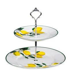 Two Tier Bone Lemon Tree Cake Stand by Cake Stand Boutique on #zulilyUK today!