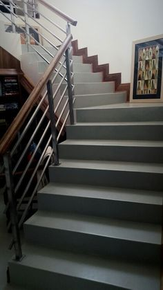 #teracoat seamless flooring staircase Floor Finishes, Staircases, Stairs, Design Inspiration, Flooring, Home Decor, Stairway, Decoration Home, Room Decor