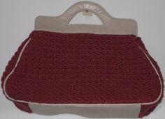 Bolsa de Crochê e couro Bello Quilt
