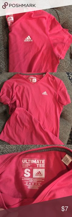 Adidas Ultimate Tee Climalite gym tee. Extremely comfortable. Also have a listing for a blue shirt. 85% polyester, 15% cotton. Listing also available in blue. Adidas Tops Tees - Short Sleeve