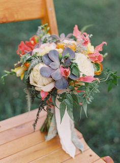 Succulents in Wedding Bouquet -- See more on SMP: http://www.StyleMePretty.com/2014/06/02/travel-themed-wedding-at-the-inn-at-westwood-farm/ VickiGraftonPhotography.com - Floral Design: PetalsandHedges.com