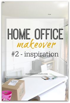 Home office makeover series of posts - this post is all about finding inspiration for the look of the room