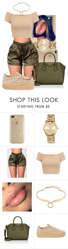 05•28• by amour-brianna ❤ liked on Polyvore featuring Speck, MICHAEL Michael Kors, Alice Olivia, Alexis Bittar, Givenchy and Puma