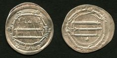 Madinat al-Salam or Baghdad Iraq Abbasid Silver Dinar Coin Harun Al-Rashid Dirham 189 AH / 805 AD Good Very Fine