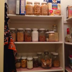 Converting to a whole foods pantry one shelf at a time!