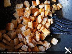 Croutons für Salate oder Cremesuppen, ein beliebtes Rezept aus der Kategorie Einlagen. Bewertungen: 11. Durchschnitt: Ø 4,2.