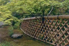 Katsura Palace | Garden designed by Honami Koetsu in 1615, with bamboo fence.