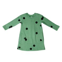 Image of OM72 | Sweatshirt dress with polka-cat print