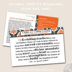 October 2012 Visiting Teaching Handout & Recipe