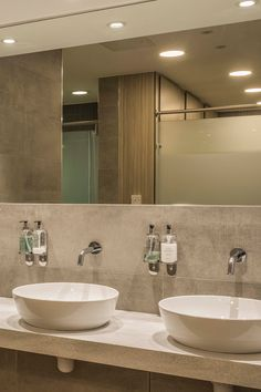 Our concrete-style tiles grace the walls of the male and female lockers rooms at Fairhaven Golf Club. Order your free tile samples online by visiting our website.