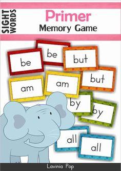 Sight Word Memory Game FREE (Primer)