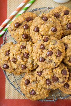 Pumpkin-Oat+Chocolate+Chip+Cookies